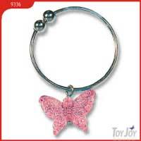 "Кольцо ""Бабочка"", имитация пирсинга, розовое, диаметр 20 мм"