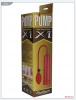 30468 Помпа вакуумная Eroticon PUMP X1 с грушей, красная, 60х230