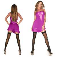 Розовое платье без бретелей HUSTLER HU41280-HPML