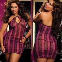 Коротенькое платье с красивым принтом STM-9386XPpink