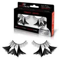 Накладные черные ресницы с перышками FLIRTY FEATHERS EF-EL01