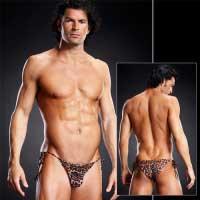 Леопардовые мужские side-tie бикини L/XL