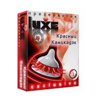 """Презерватив """"Luxe"""" красный камикадзе (усы) 1 штука"""