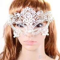 Кружевная маска соблазнительницы, цвет белый