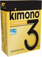 ПРЕЗЕРВАТИВЫ KIMONO (супертонкие) 1уп.=3 шт.