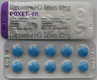 Дженерик дапоксетин 60 мг, 5 таблеток