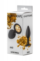 АНАЛЬНАЯ ПРОБКА EMOTIONS CUTIE SMALL BLACK GOLDEN CRYSTALL 4011-